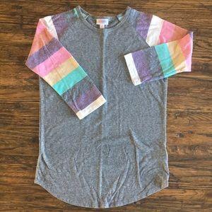 Lularoe Randy top 3/4 length sleeve XS rainbow